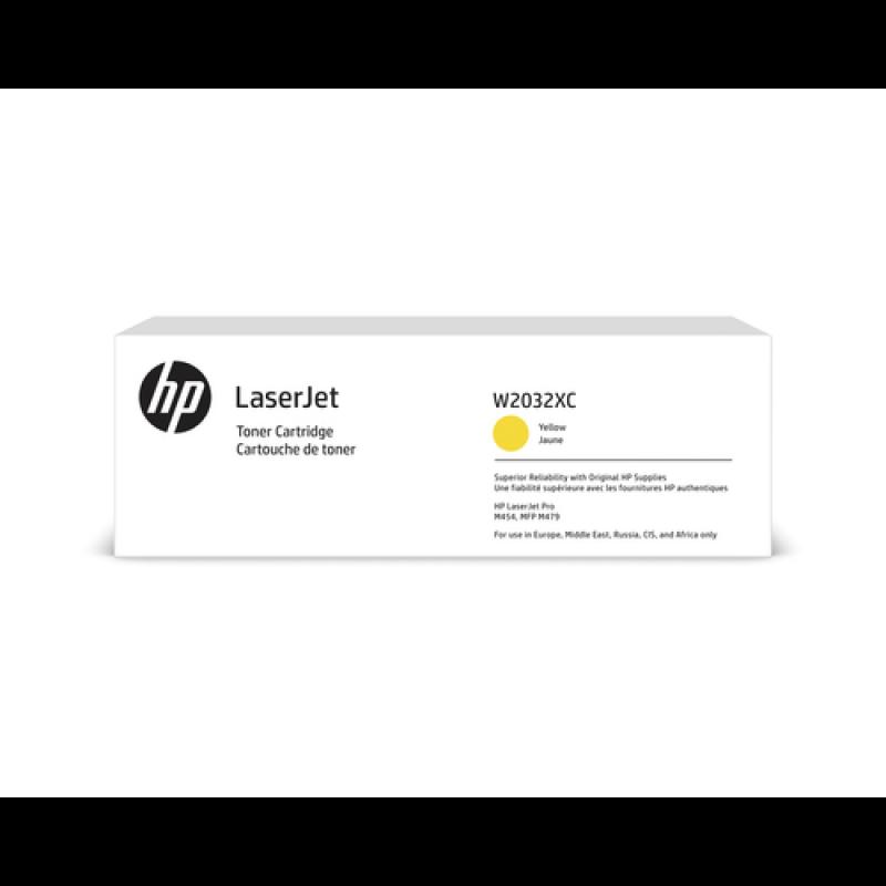 HP 415X Tonerkassette (Contract-Toner) W2032XC gelb,, 6.600 Seiten