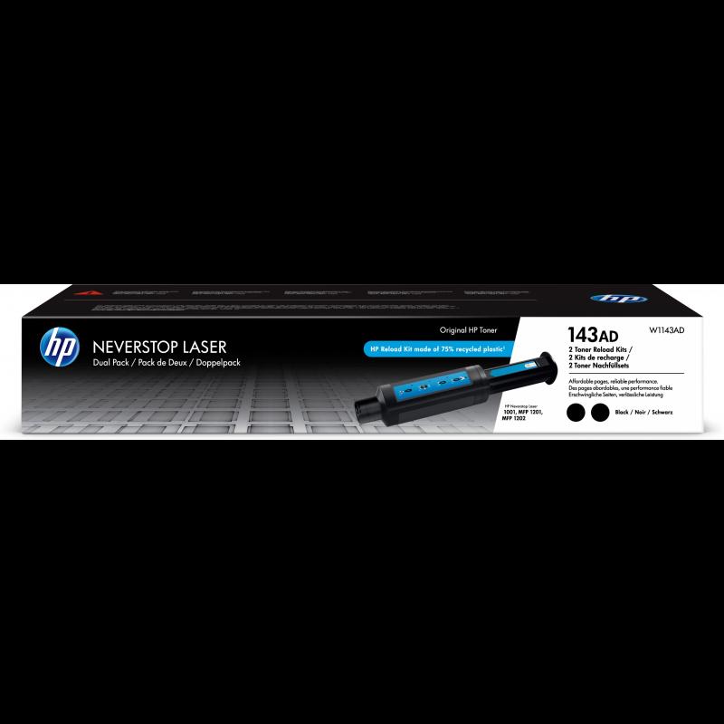 HP 143AD Tonerkassette W1143AD, schwarz, 2x2.500 Seiten