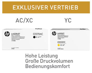 Bezeichnungen der HP Contract (Projekt) Tonerkartuschen