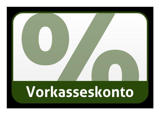 Bezahlart Vorkasse mit 2% Skonto